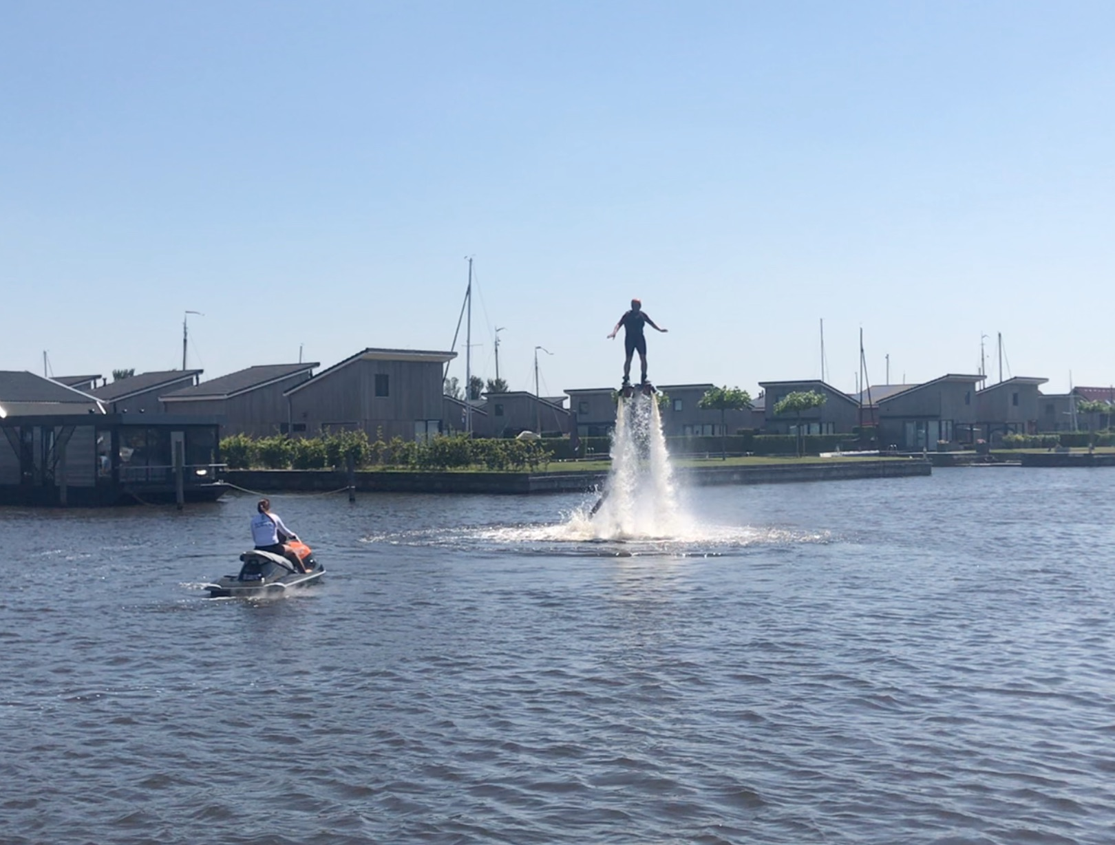 Flyboarding during the Luminis Amsterdam Social